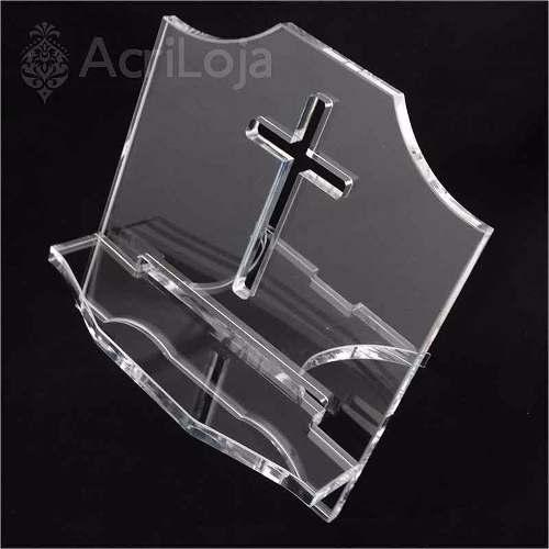 Aparador, Suporte, Porta Biblia Sagrada Em Acrílico 25x23cm