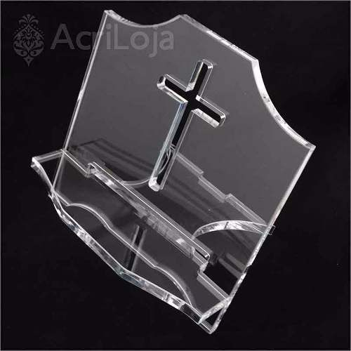 Aparador, Suporte, Porta Biblia Sagrada Em Acrilico 32x30cm