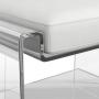 Cadeira Banqueta em Acrilico Transparente 60x48x55cm