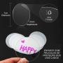 Chaveiro de Acrilico Redondo Transparente 7cm Para Personalizar