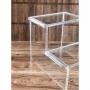 Escada de Acrilico para Closet 2 degraus
