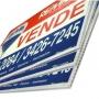 Kit 100 Placas de Vende-se e Aluga-se Para Imobiliárias Tam. 20x30cm em Policarbonato com Impressão digital