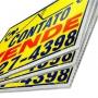 Kit 40 Placas de Vende-se e Aluga-se Para Imobiliárias Tam. 30x50cm em Policarbonato com Impressão digital