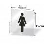 Kit de Placas de Indicação Suspensa de Portas, Salas e Quartos de Hotel, Empresa, Escola em Acrilico Personalizada 20x15cm