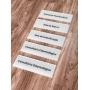 Kit de Placas de Sinalização e Indicação de Portas e Setores em Acrilico Personalizada 30x10cm