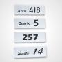 Kit de Placas Personalizadas para Quarto de Hotel, Motel e Pousada, Tamanho 10x30cm