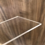 Placa de Acrilico Transparente 100cm x 50cm Espessura 3mm, Chapa de Acrilico Cristal, Incolor