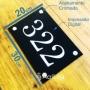 Placa de Sinalização Andar de Prédios em Acrilico Personalizada - Tam. 30x20cm