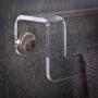 Porta Toalhas em Acrilico Transparente para Banheiros, Toalheiro de Acrílico