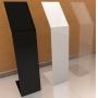 Totem de Acrilico Preto Personalizado 1.10m Com Display A4 - Para Lojas, Igrejas e Empresas