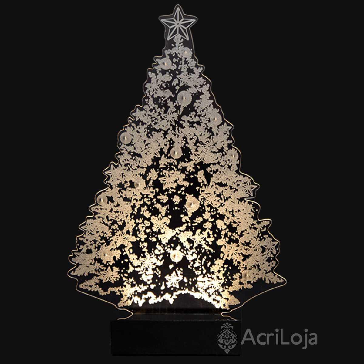 Abajur De Mesa LED em Acrílico 3d Arvore de Natal 110/220v, Abajur para quarto e sala para decoração de Natal