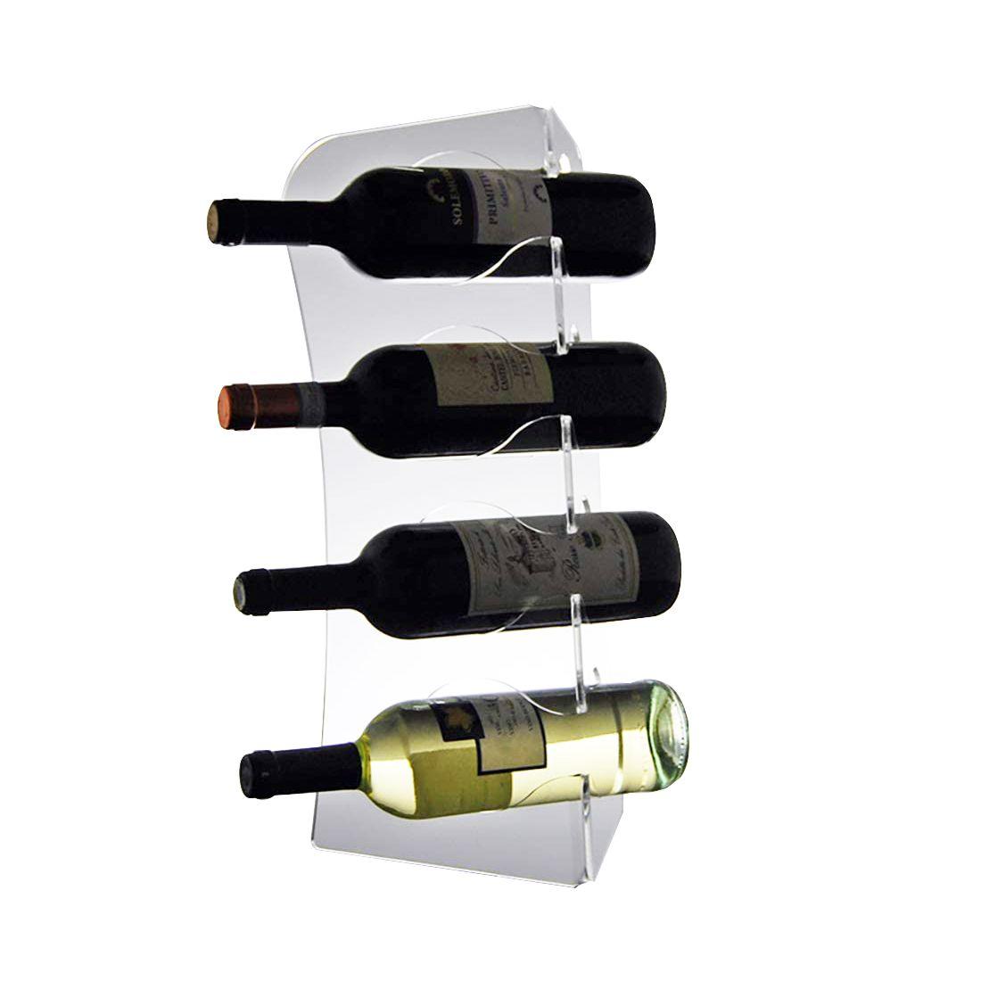 Adega, Porta Vinhos, Suporte de Mesa para 4 Garrafas Em Acrílico