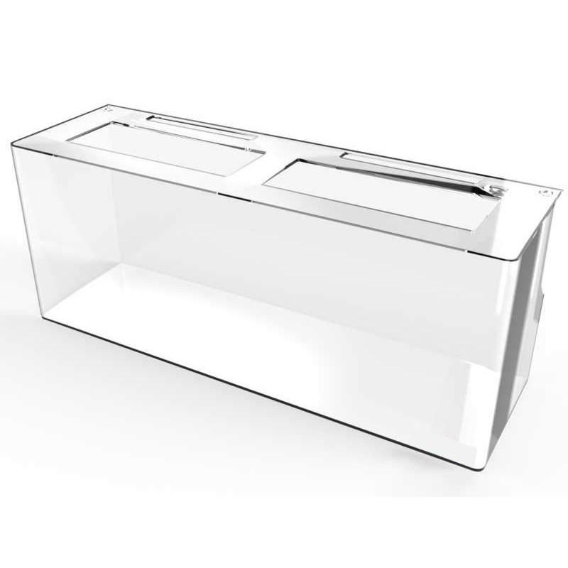 Aquario de Peixe em Acrilico 211 litros 90x60x38cm