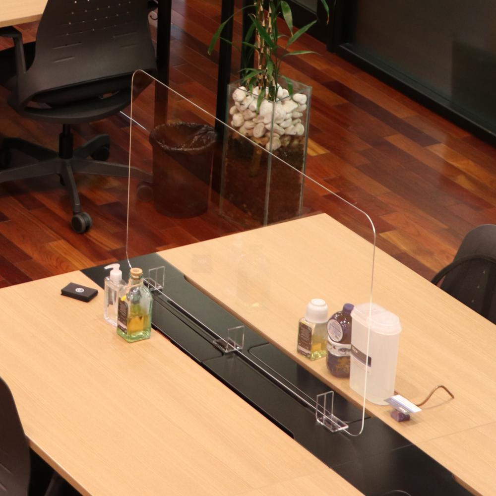 Barreira de Proteção de Acrílico, Divisória para mesas de escritórios e empresas Tamanho 110x60cm