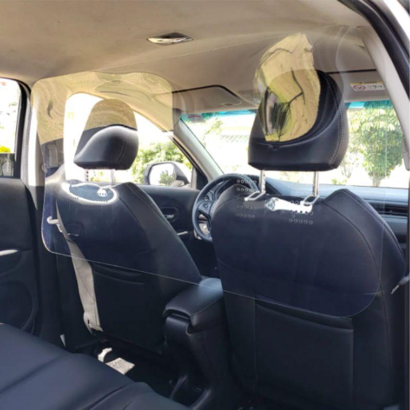 Barreira de Proteção Salivar e Fluidos Nasais Para Taxi e Uber - Tamanho 120x60cm