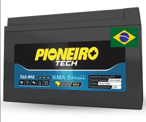 Bateria Selada 12v 9ah Marca Pioneiro Modelo T12 -9F2 Fabricação Nacional