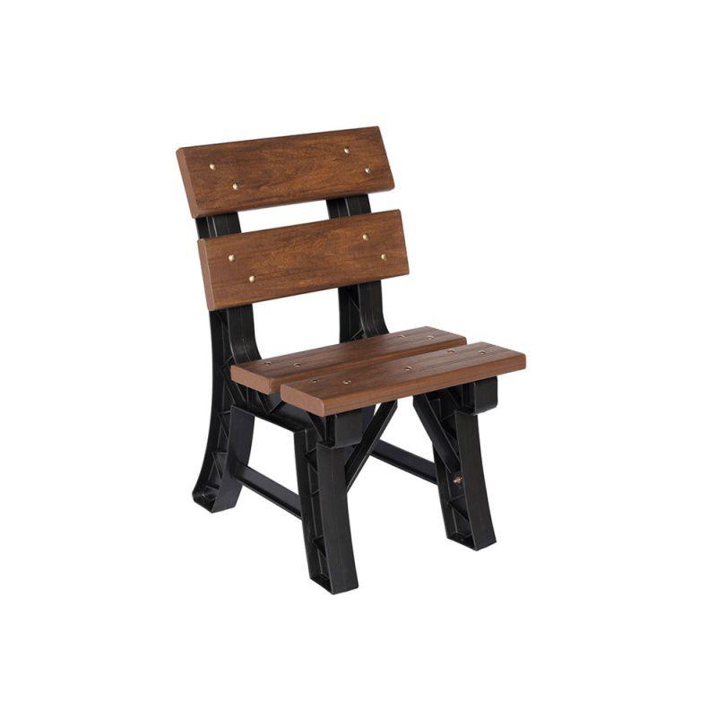 Cadeira de Madeira Plastica 45cm Para Ambiente Interno e Externo
