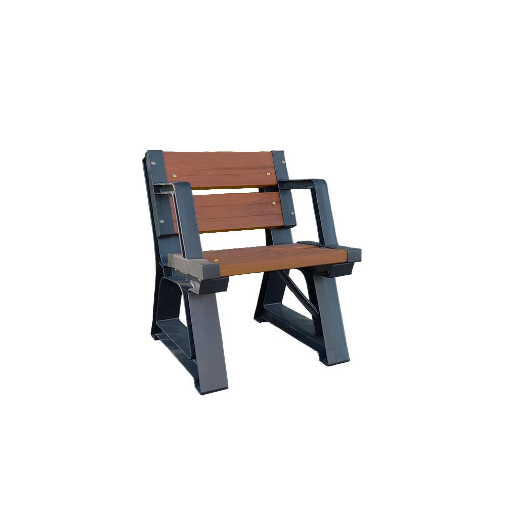 Cadeira de Madeira Plástica 60cm Com Apoio de Braço Para Ambiente Interno e Externo - Linha Premium