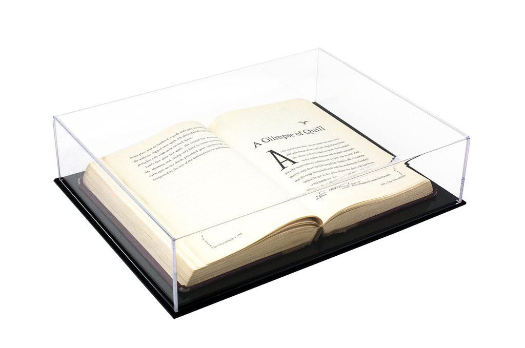 Caixa de Acrilico Expositora Tamanho 33x8x25cm Ideal Para Livros e Itens Colecionáveis