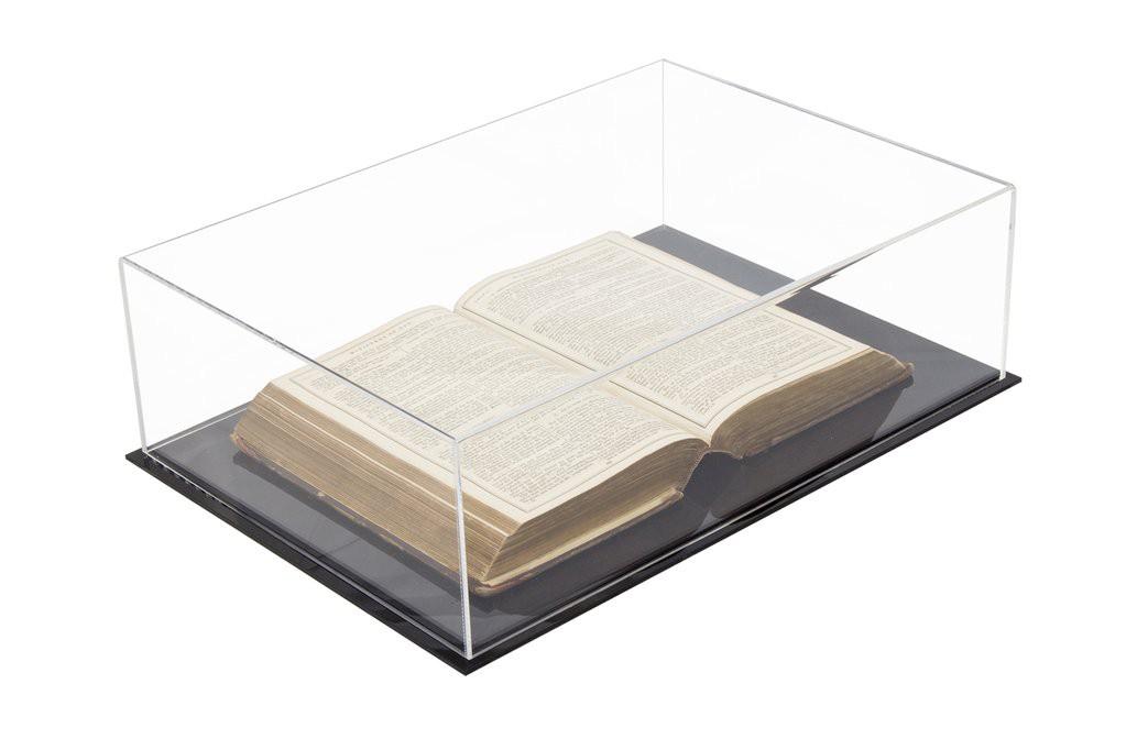 Caixa de Acrilico Expositora Tamanho 50x15x35cm Ideal Para Livros e Itens Colecionáveis