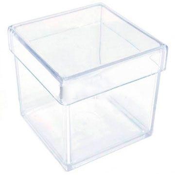 Caixa de Acrilico Transparente Com Tampa Quadrada 45x45x45cm