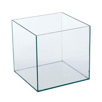 Caixa de Acrilico Transparente Sem Tampa Quadrada 15x15x15cm