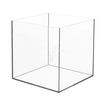 Caixa de Acrilico Transparente Sem Tampa Quadrada 30x30x30cm