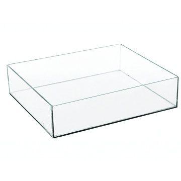 Caixa de Acrilico Transparente Sem Tampa Retangular 25x5x15cm