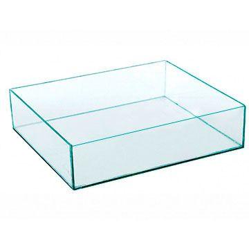 Caixa de Acrilico Transparente Sem Tampa Retangular 30x5x15cm