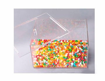 Caixa Expositora de Produtos a Granel,Doces e Grãos em acrílico com 30x15x20cm