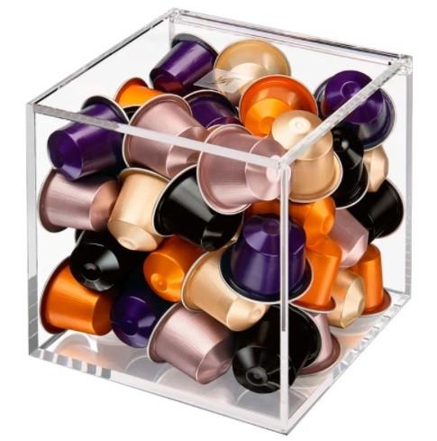 Caixa Porta Capsulas de Café Em Acrilico Transparente - Organizador Para 30 Capsulas