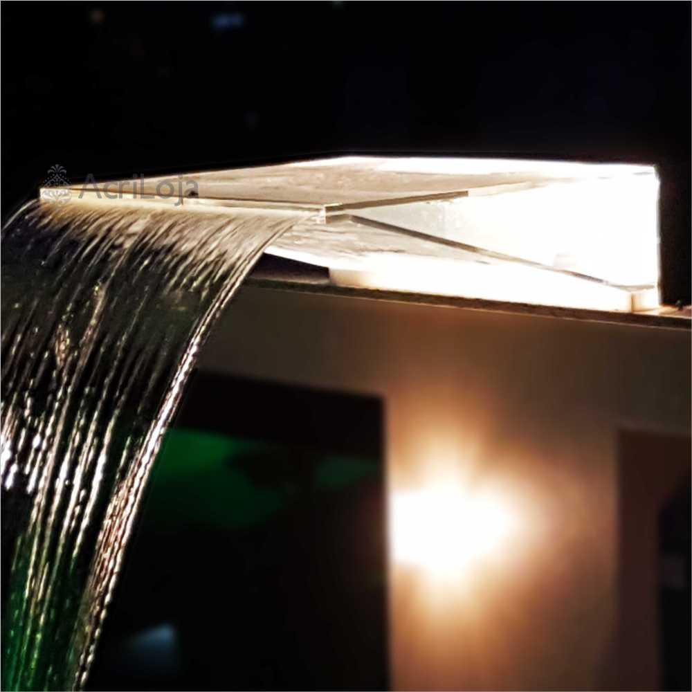 Cascata Para Piscina Em Acrílico Transparente 12mm, 82x81x20cm