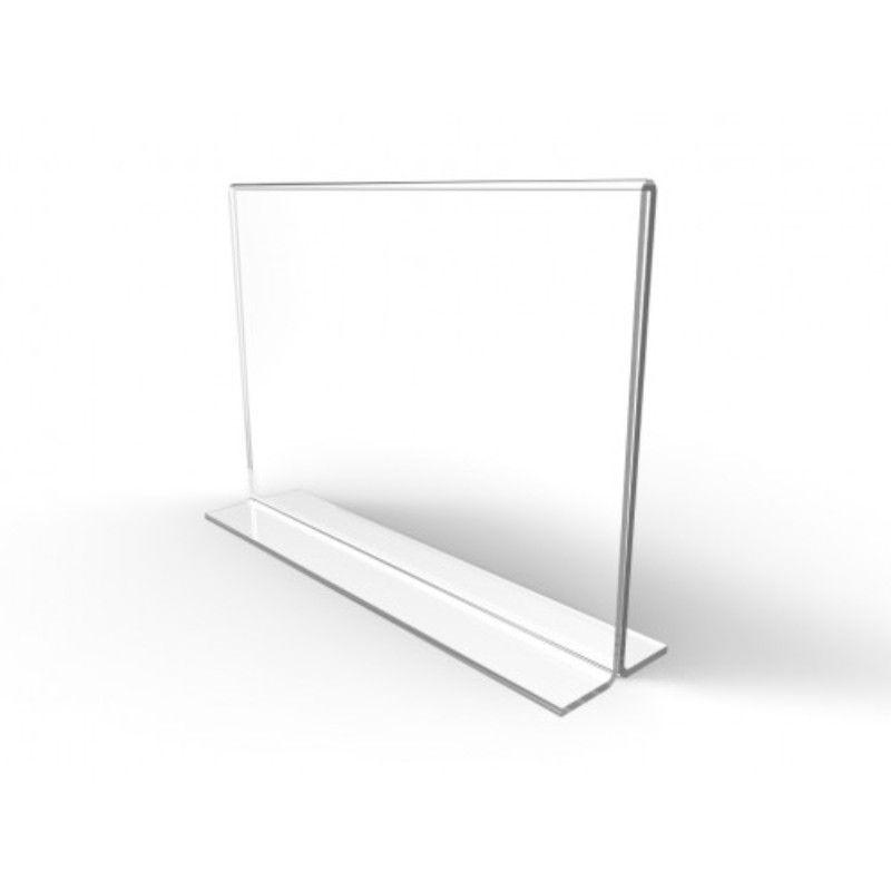 Display De Mesa de Acrilico A Folha A3 em T Horizontal