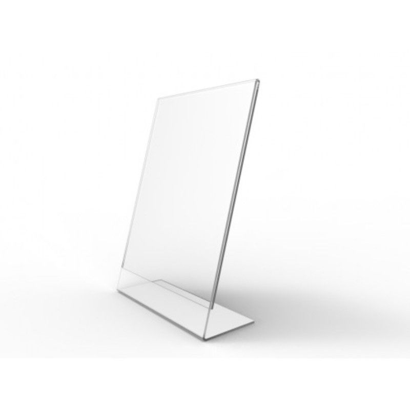 Display De Mesa de Acrilico A Folha A4 Tipo L Vertical