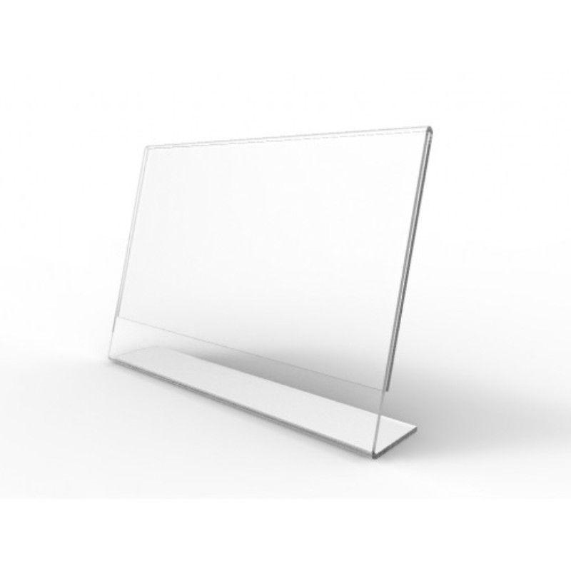 Display De Mesa de Acrilico Folha A5 Tipo L Horizontal
