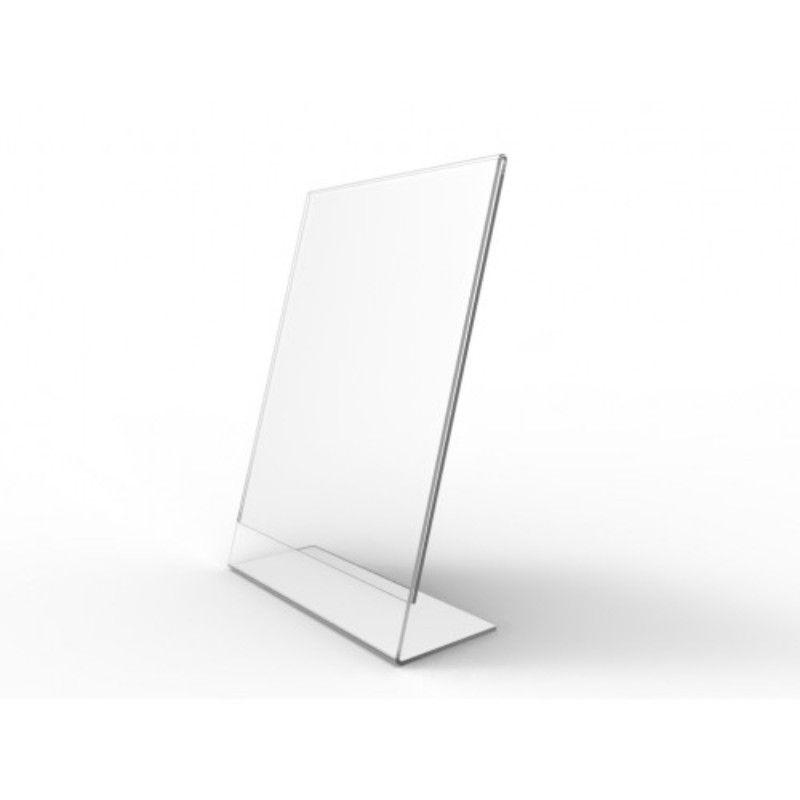 Display de Mesa de Acrilico Folha A5 Tipo L Vertical