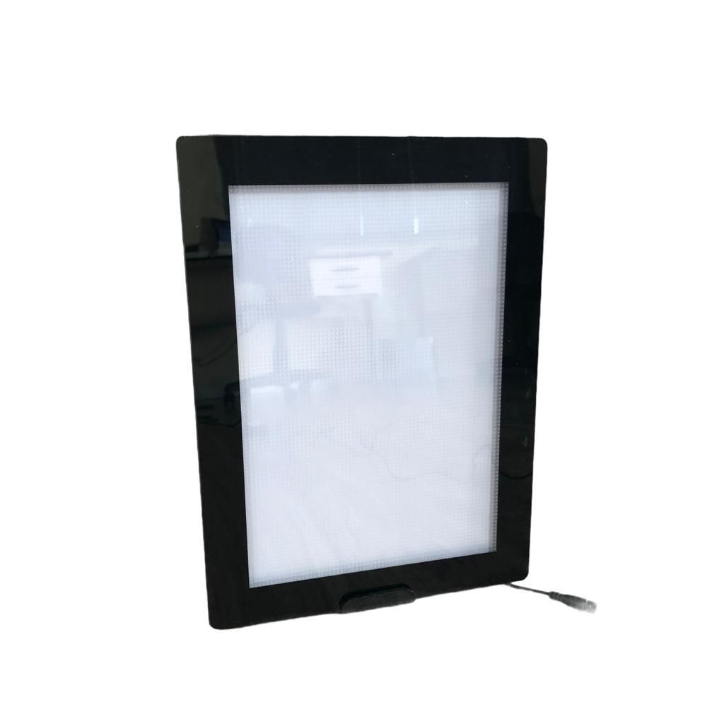 Display de Mesa LED Tamanho A4 Horizontal e Vertical, Painel de LED para Mesa e Bancada