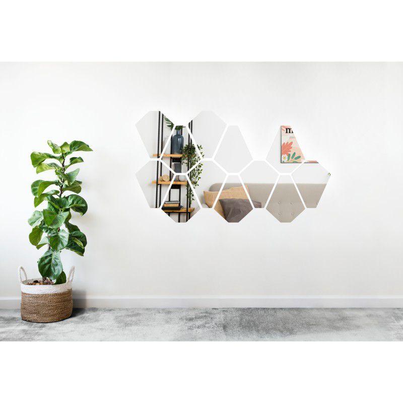 Espelho Decorativo em Acrilico Para Parede de Sala, Quarto, Cozinha e Escritorio - Modelo Mosaico Formas 2