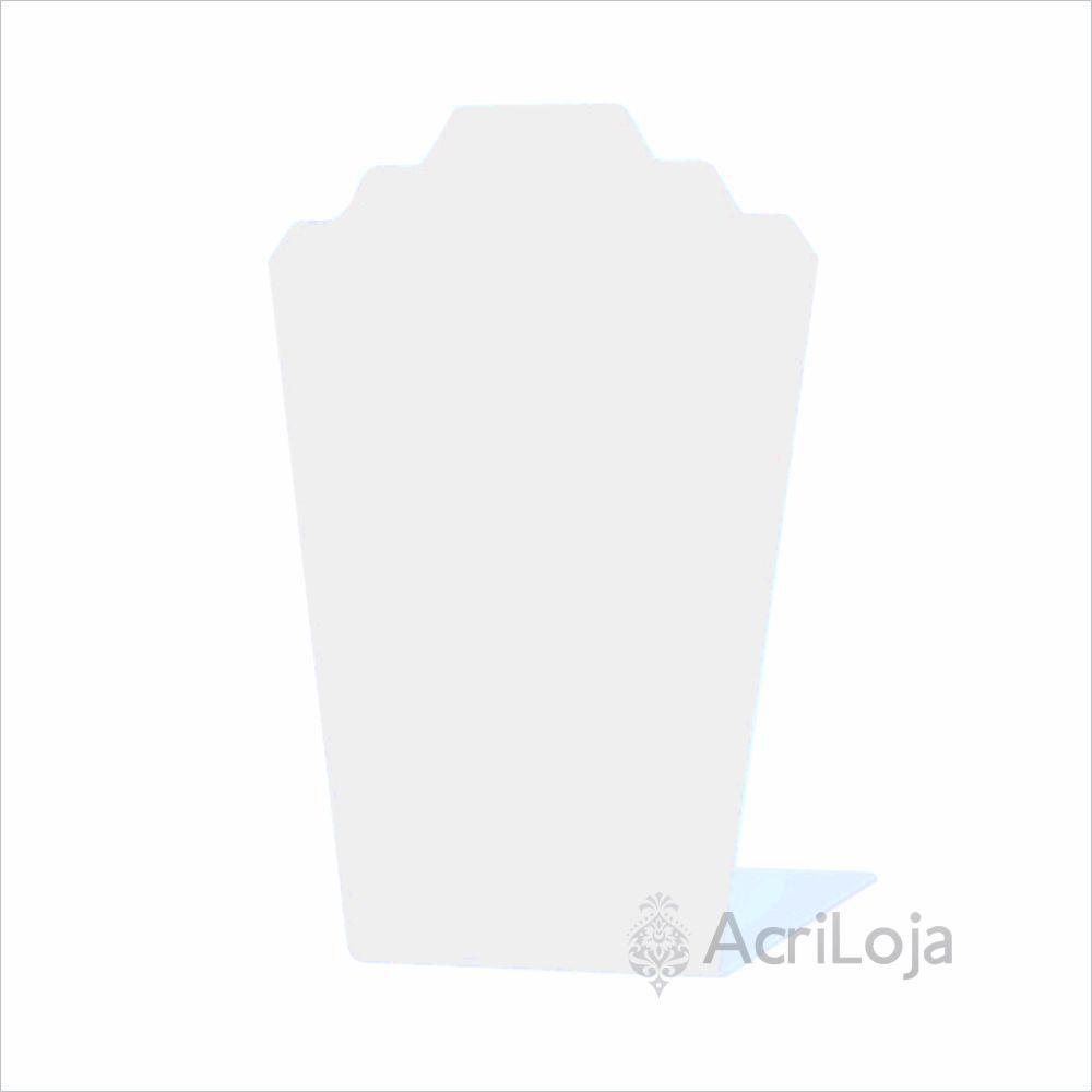 Expositor, Suporte de Colar de Mesa em Acrilico Branco para Joalherias