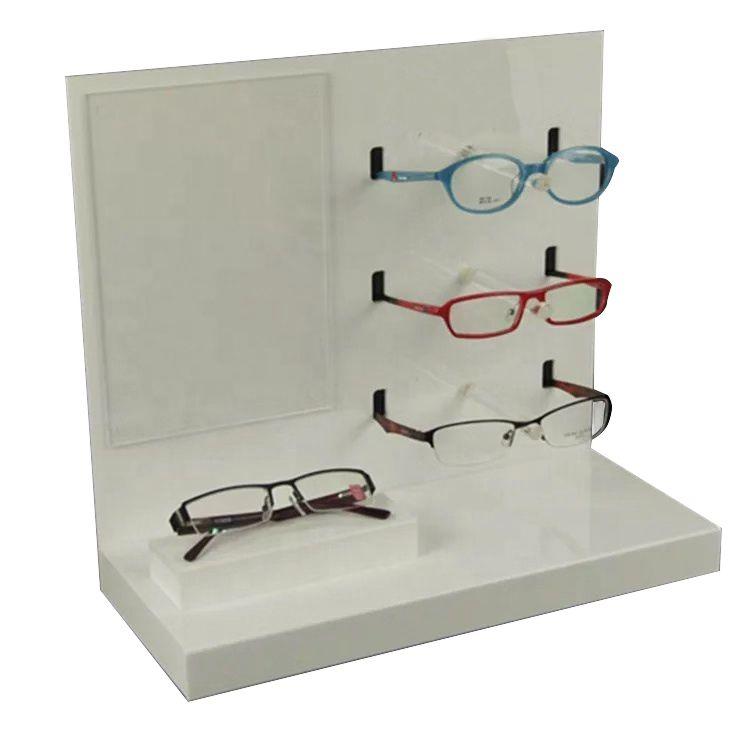 Expositor, Suporte de Oculos em Acrílico de Mesa e Bancada para Óticas e Relojoarias