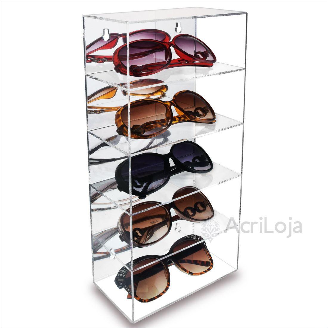 Expositor, Suporte de Oculos em Acrílico de Parede, Mesa e Bancada para Oticas e Relojoarias