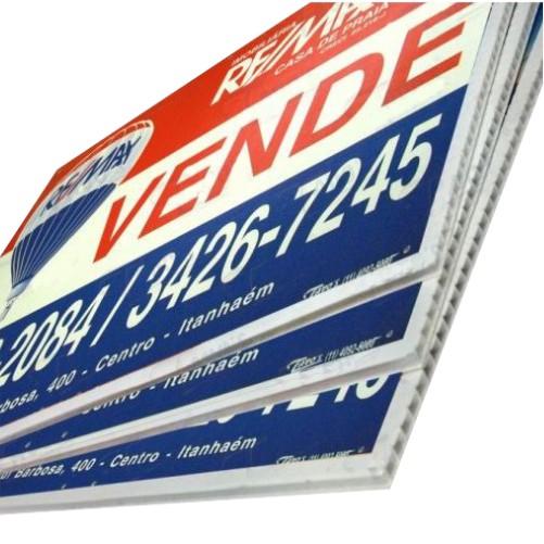 Kit 20 Placas de Vende-se e Aluga-se Para Imobiliárias Tam. 40x60cm em Policarbonato com Impressão digital