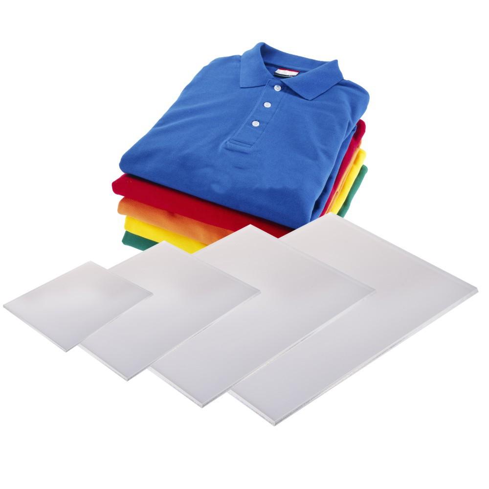 Kit com 4 gabaritos em Acrilico para Dobrar Roupas, Blusas, Camisas e Camisetas