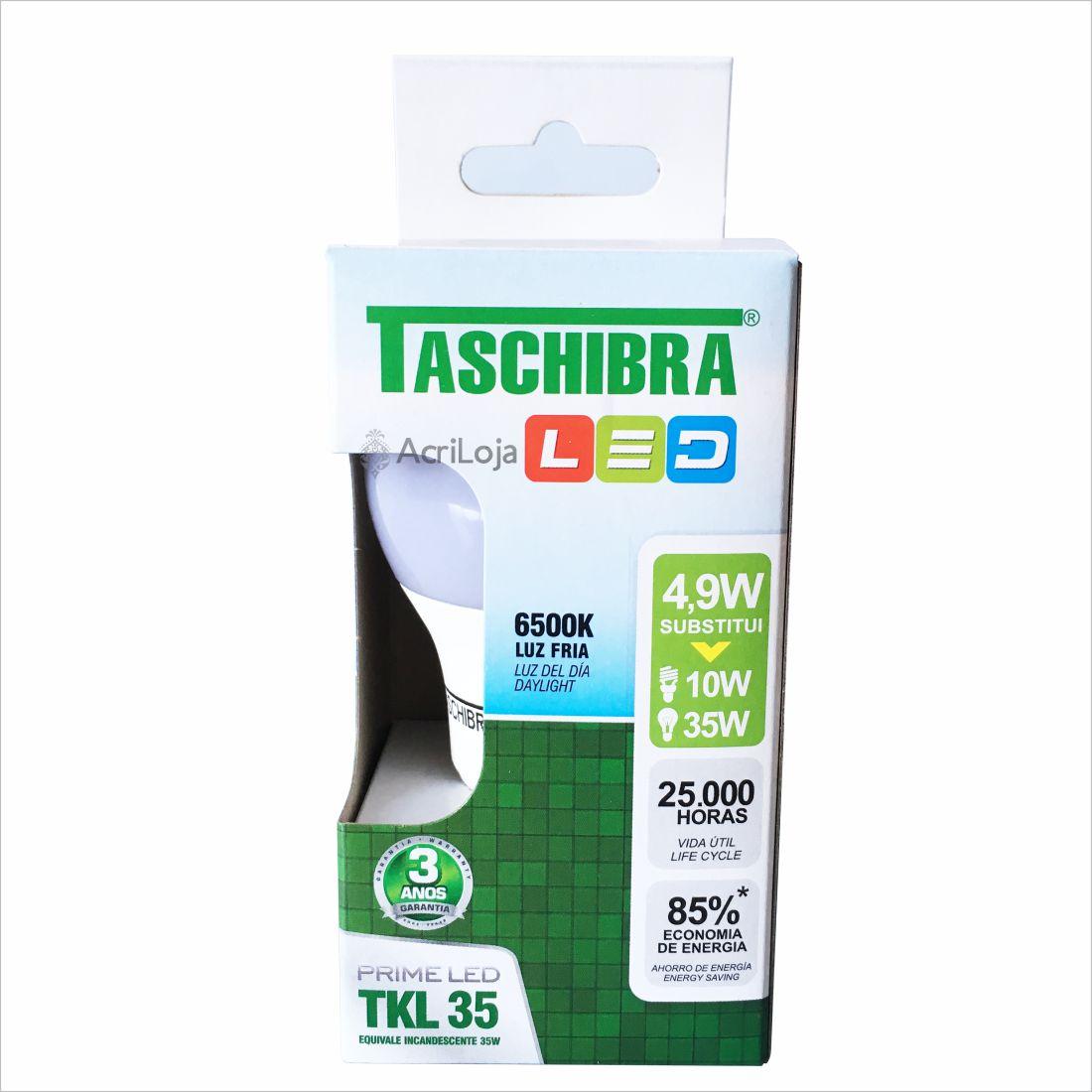 Lampada Led Bulbo Branca / Fria 4.9w 6500k Taschibra Tkl35