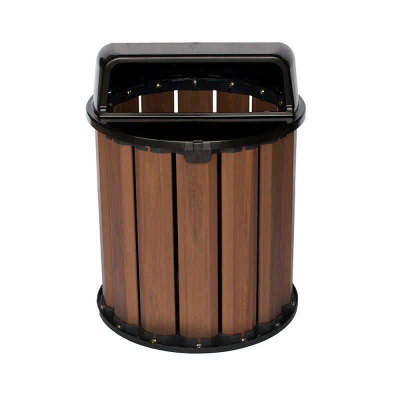 Lixeira de Madeira Plástica 65 litros - 50cm de altura Para Reciclagem