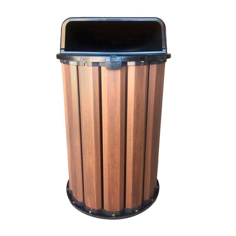 Lixeira de Madeira Plástica 90 litros - 70cm de Altura para Reciclagem