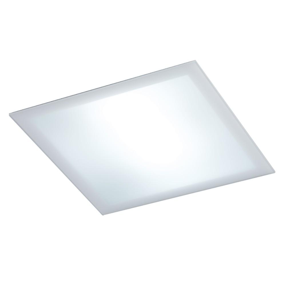 Luminaria Embutida de Teto Quadrado Acrílico 20x20 Cm Fixação Com Imãs, Embutido Antares