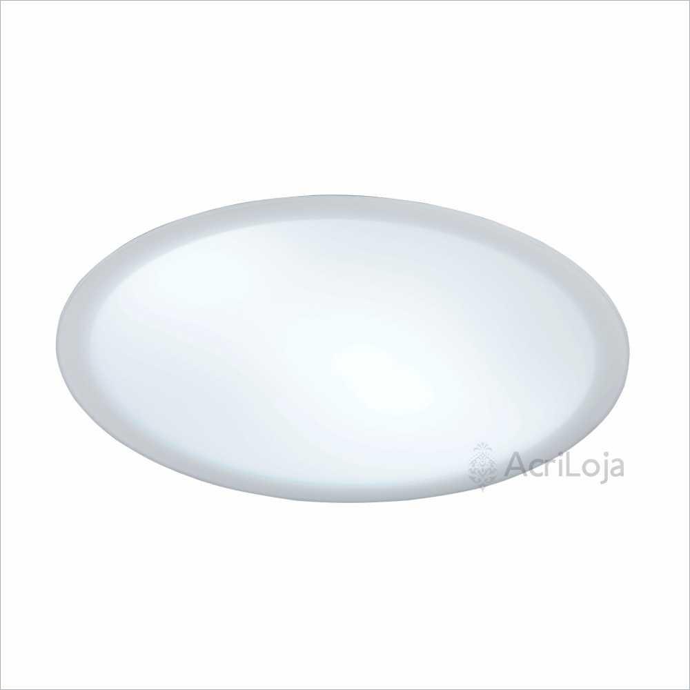 Luminaria Embutida de Teto Redondo Acrílico 25 Cm Fixação Com Imãs, Embutido Antares
