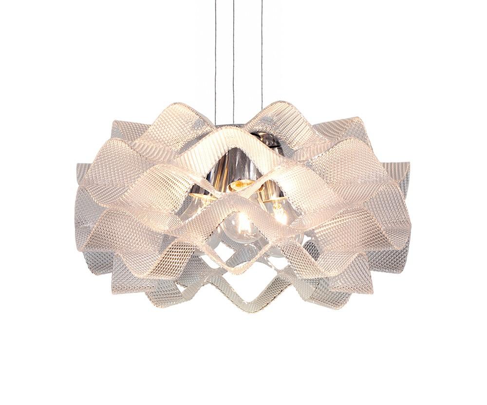 Luminaria Pendente Circe em Acrilico Prismático 45cm x 24cm de Altura