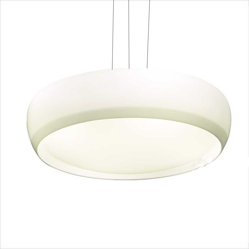Luminaria Pendente Kaoni Redondo Acrilico Branco 58cm